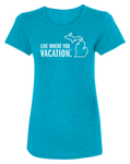 Live Where You Vacation Women's Scoopneck T