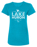 My Great Lake Huron Women's Scoopneck T