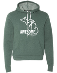 Michigan Awesome State Outline Hoodie (CLOSEOUT)