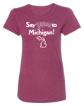 Say Yasss to Michigan Women's Scoopneck T