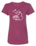 Camp Michigan Women's Scoopneck T