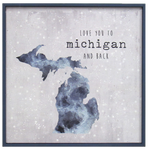 Love You to Michigan Framed Print