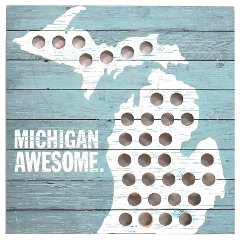 Michigan Bottle Cap Map