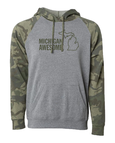 Michigan Awesome Camo Hoodie