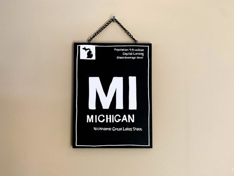 "Michigan ""Facts"" Plaque"