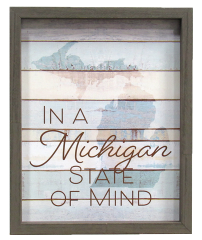 Michigan State of Mind Framed Print