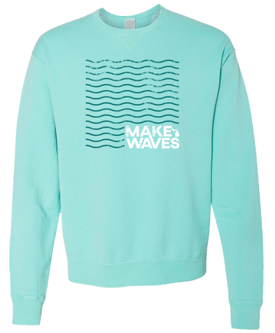 Make Waves Crewneck Sweatshirt (CLOSEOUT)
