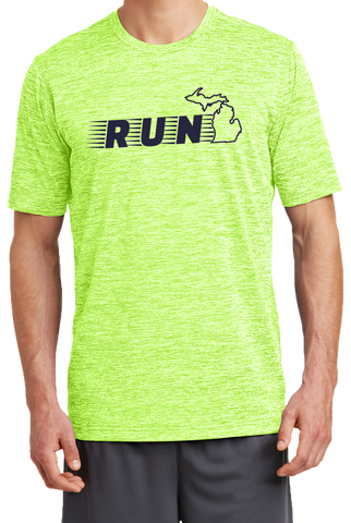 Run Michigan Men's Performance T-shirt (CLOSEOUT)