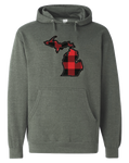 Buffalo Plaid Michigan Men's Hoodie