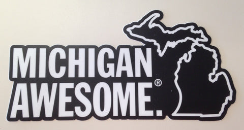 Michigan Awesome Die-Cut Sticker
