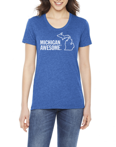 Michigan Awesome Women's Fitted T-shirt (Closeout)