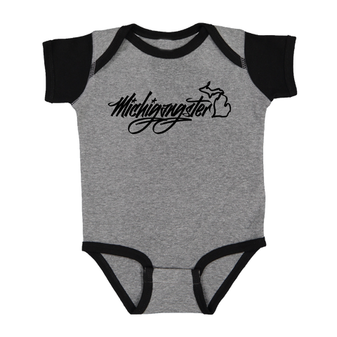 Michigangster Graffiti Baby Color Block Onesie