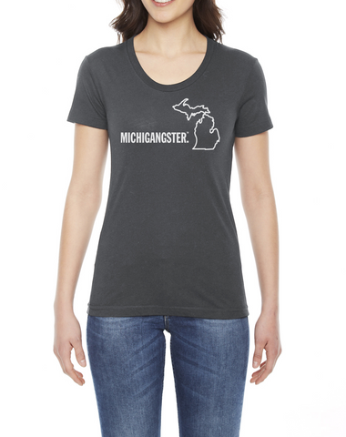 Michigangster  Women's Fitted T-shirt (Closeout)