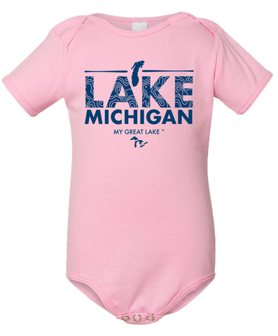 My Great Lake Michigan Baby Onesie