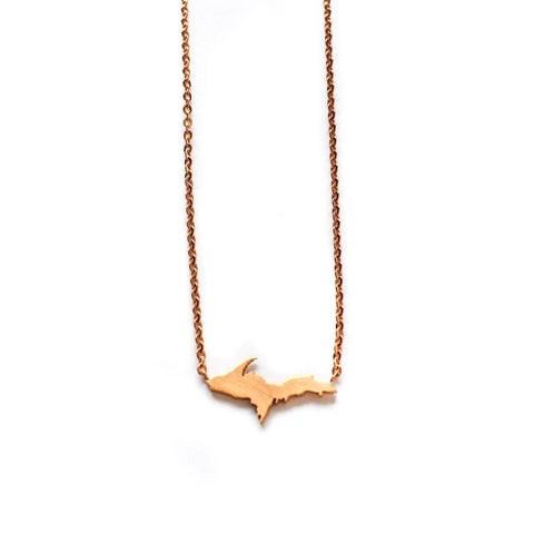Rose Gold Upper Peninsula Necklace