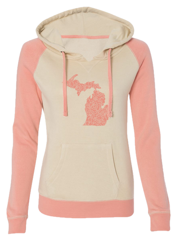 Women's Michigan Flora Pullover Hoodie (CLOSEOUT)