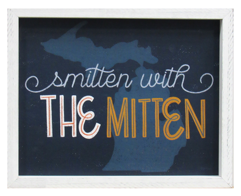 Smitten with the Mitten Framed Print
