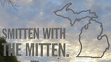 Smitten With The Mitten White Vinyl Sticker