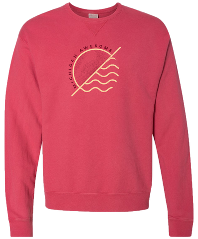 Sun and Waves Crewneck Sweatshirt (CLOSEOUT)