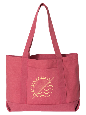 Sun and Waves Boat Tote