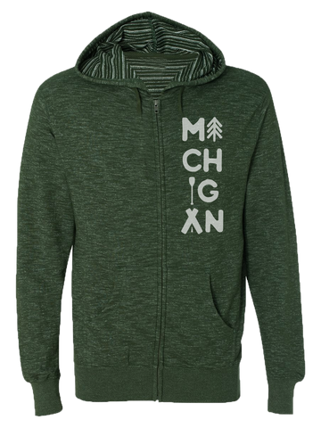 Michigan Outdoors Zip Hoodie (CLOSEOUT)
