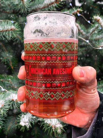"""Ugly Sweater"" Can Glass"