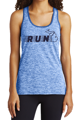 Run Michigan Women's Performance Tank (CLOSEOUT)