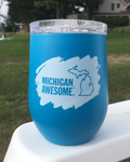 Michigan Awesome Stainless Steel Wine Tumbler