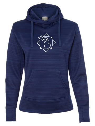 Women's Michigan Compass Performance Hoodie (CLOSEOUT)