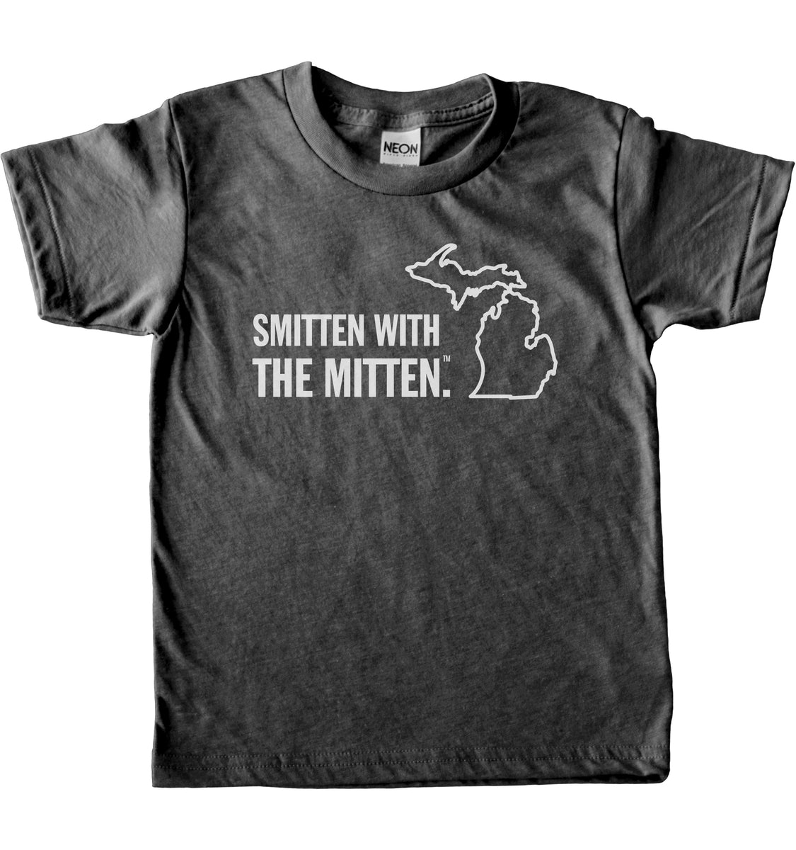 Smitten With The Mitten Kids T Shirt Michigan Awesome