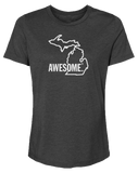Michigan Awesome State Outline Women's Relaxed Fit T