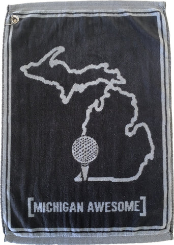 Michigan Awesome Golf Towel