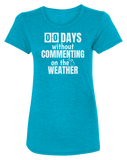 00 Days Without Commenting Women's Scoopneck T