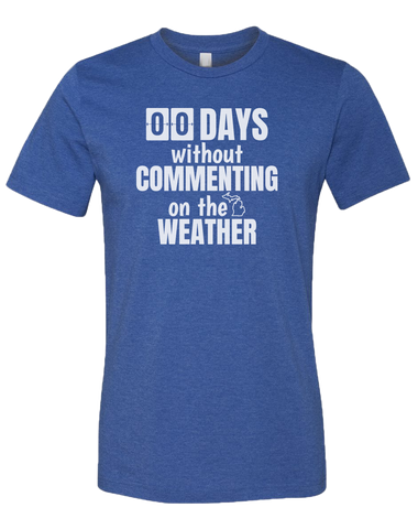 00 Days Without Commenting Unisex T-Shirt (CLOSEOUT)