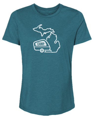 Camp Michigan Women's Relaxed Fit T
