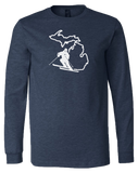 Ski Michigan Long Sleeve T-Shirt