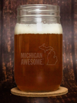 Michigan Awesome Mason Jar