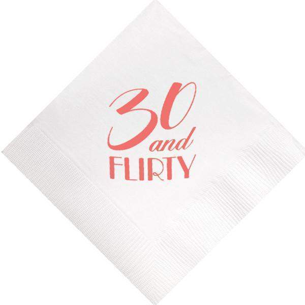 30 & Flirty Beverage Napkins - Party Cup Express