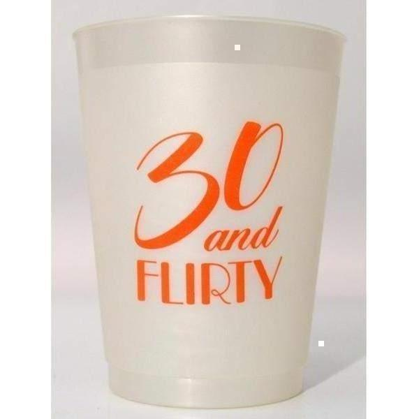 30 & Flirty Frost Flex Cups - Party Cup Express