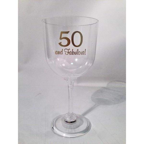 50 and Fabulous Light Up Wine Glass