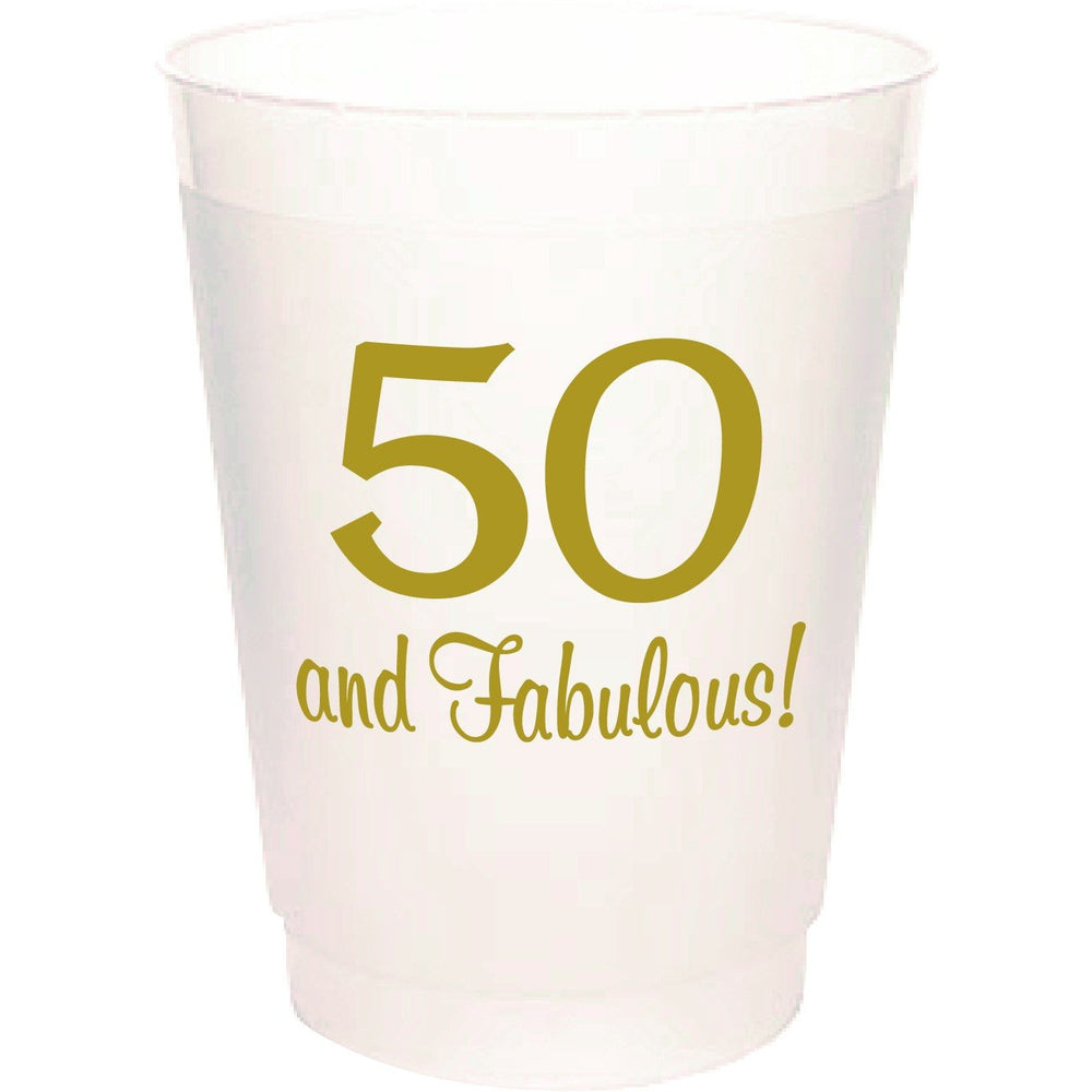 50 and Fabulous 16oz frost flex cups (sleeve of 25 cups)