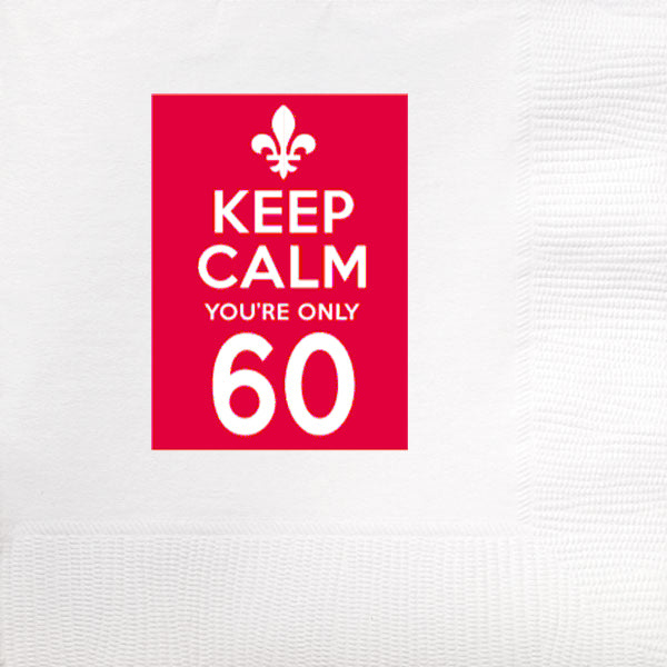Keep Calm You're Only 60 Frost Flex Cups (pk/25)