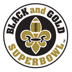 Black & Gold Superbowl Frost Flex Cups (25/pk) - Party Cup Express
