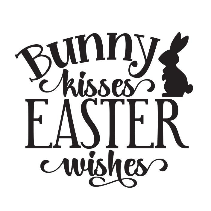 """Bunny Kisses Easter Wishes"" 12oz Stemless Wine Cups"