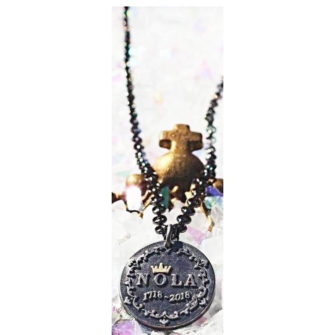 NOLA Tricentennial Charm Necklace with Chain - Party Cup Express