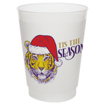 """LSU Tiger Santa"" 16oz Frost Flex Cups (25/pk)"