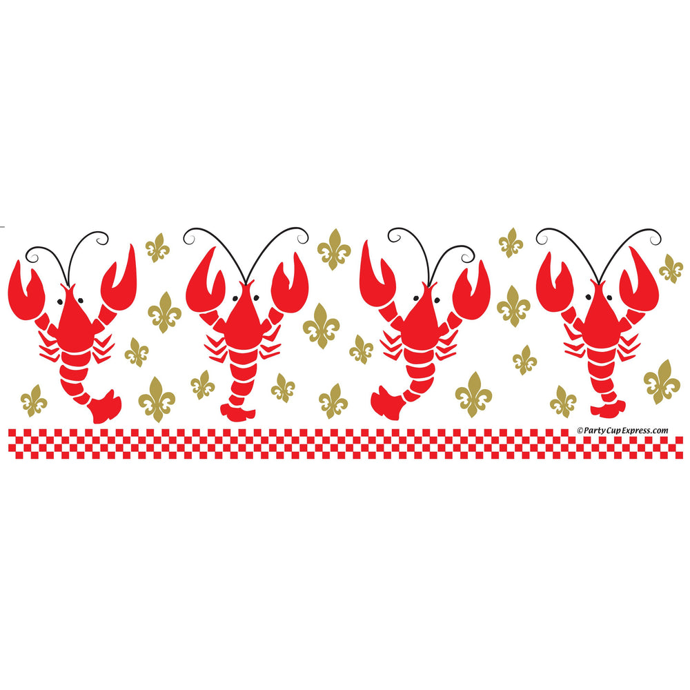 Crawfish & Gold Fleur de Lis Frost Flex Cups, 20oz (25/pk)