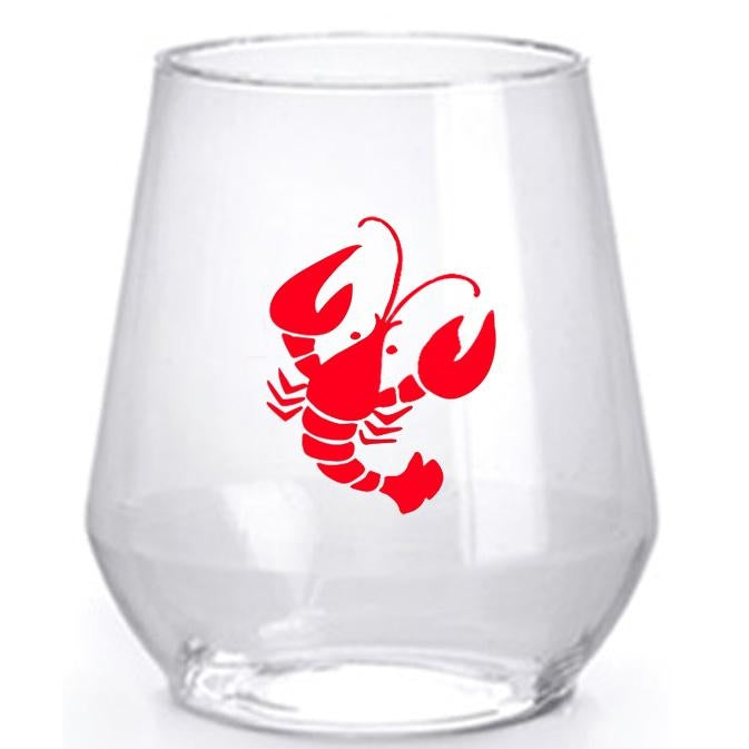 Crawfish Stemless Wine Glasses - Party Cup Express