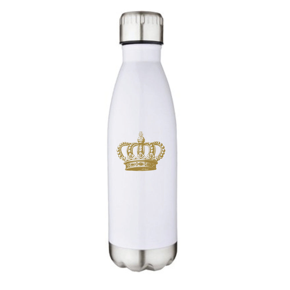 'Gold Antique Crown' 17oz Stainless Vacuum Pop Bottle