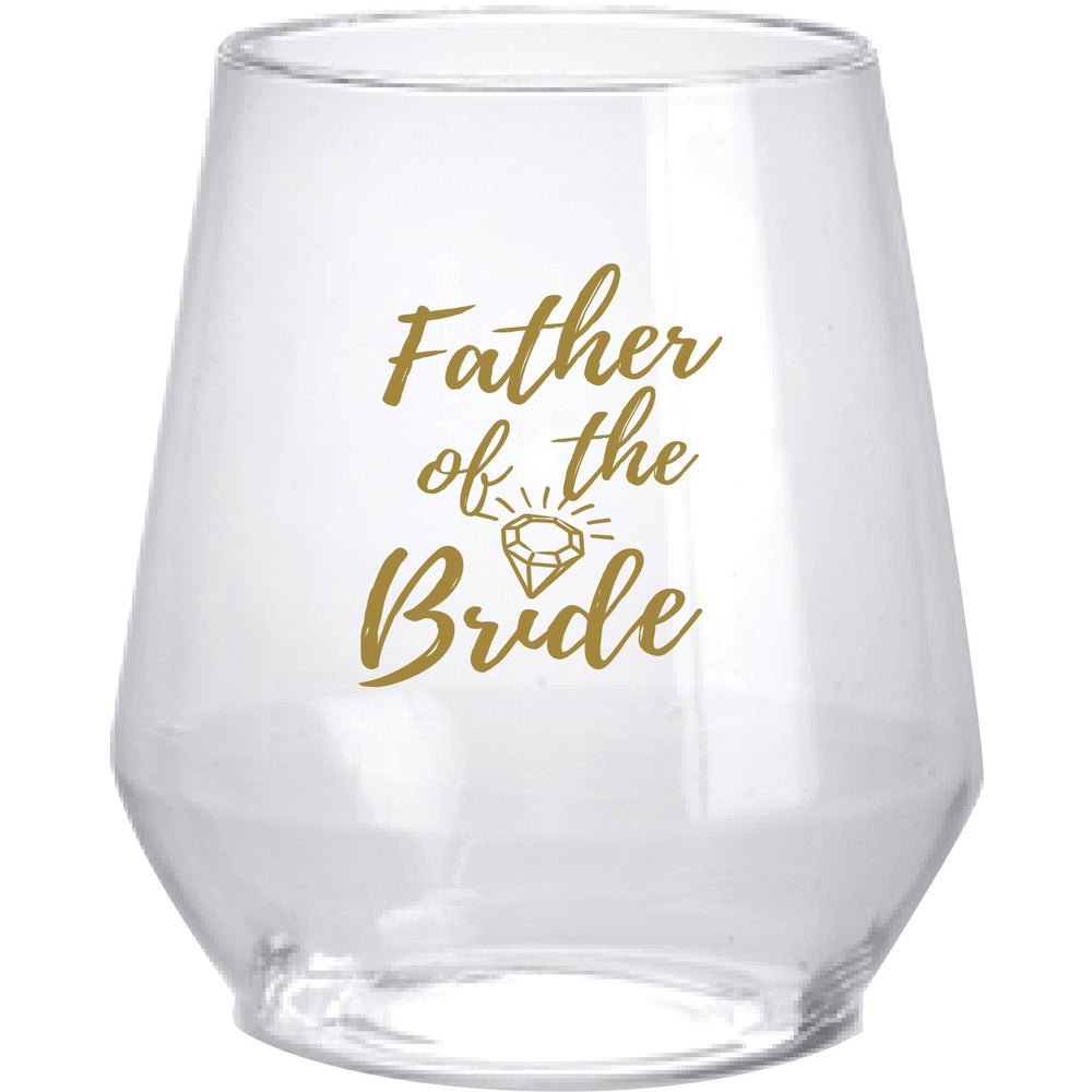 'Bride Tribe' & Wedding Party Stemless Wine Glasses